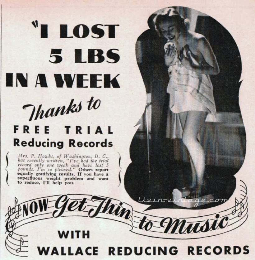 1950s weight loss ad
